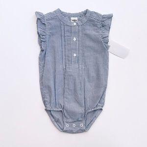 Baby Girl Ruffle Pinstripe Bodysuit